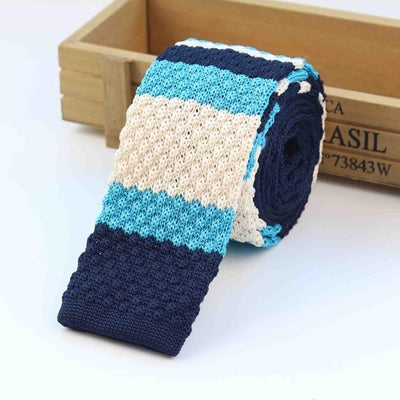 Knitted Ties for Men Blue 20 - Men Ties & Accessories | MegaMallExpress.com