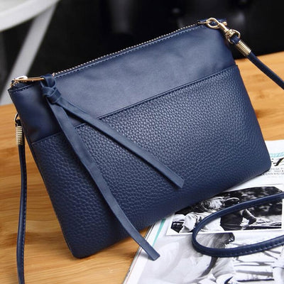 Women Fashion PU Leather Handbags blue clutch / (20cm<Max Length<30cm) - Women Handbags & Purses | MegaMallExpress.com