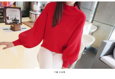 Women Loose Sweater with Batwing Sleeves  - Women Sweaters | MegaMallExpress.com