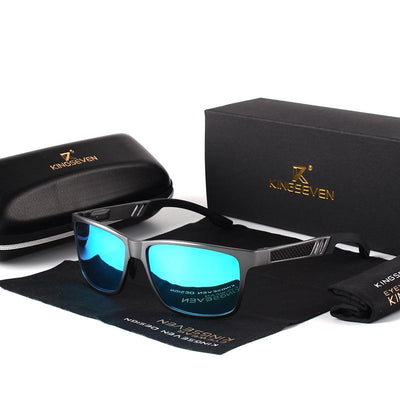 Men's Polarized Mirror Sunglasses Gray Blue / Original - Men Sunglasses | MegaMallExpress.com