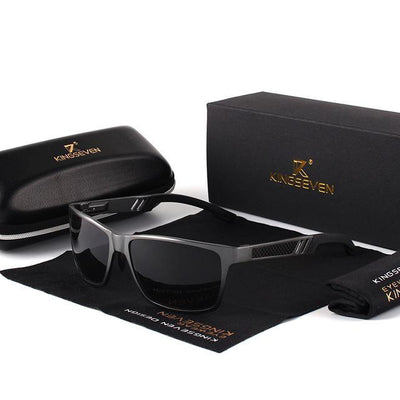 Men's Polarized Mirror Sunglasses Gray / Original - Men Sunglasses | MegaMallExpress.com