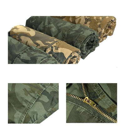 Camouflage Cargo Shorts  - Men Bottoms | MegaMallExpress.com