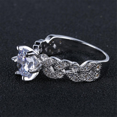 1.5 Carat CZ Ring  - Wedding & Engagement | MegaMallExpress.com