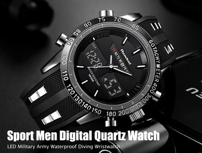 Men Waterproof Sports Watch Digital And Analog  - Men Watches | MegaMallExpress.com