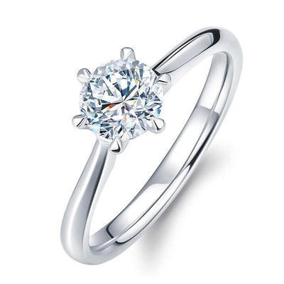 Classic Engagement Solitaire 9 / Silver Plated - Wedding & Engagement | MegaMallExpress.com