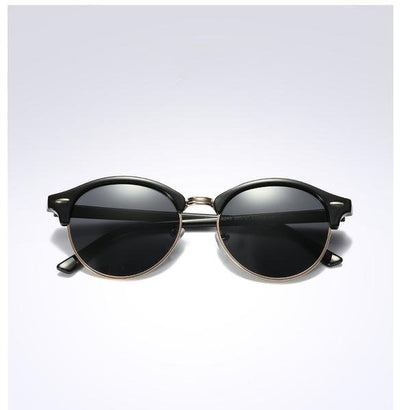 Unisex Polarized Round Sunglasses Black Black - Men Sunglasses | MegaMallExpress.com