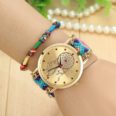 Women Handmade Braided Wrist Watch  - Women Watches | MegaMallExpress.com