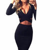 Women Bodycon Bandage Below the Knee Dress Black / XL - Women Dresses | MegaMallExpress.com