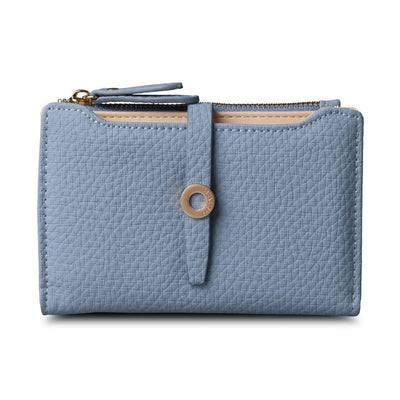 Women's Top Quality Leather Small Wallets Blue - Women Wallets | MegaMallExpress.com