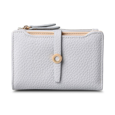 Women's Top Quality Leather Small Wallets Light Grey - Women Wallets | MegaMallExpress.com