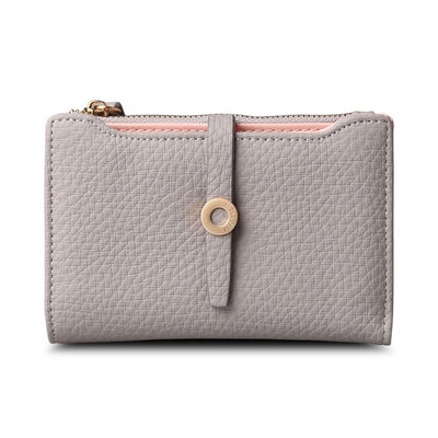 Women's Top Quality Leather Small Wallets Grey - Women Wallets | MegaMallExpress.com