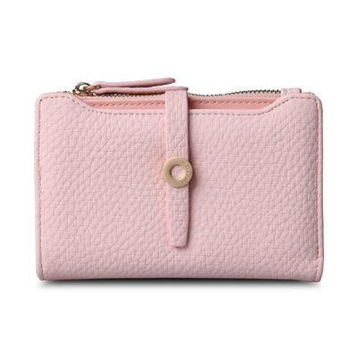 Women's Top Quality Leather Small Wallets Light pink - Women Wallets | MegaMallExpress.com