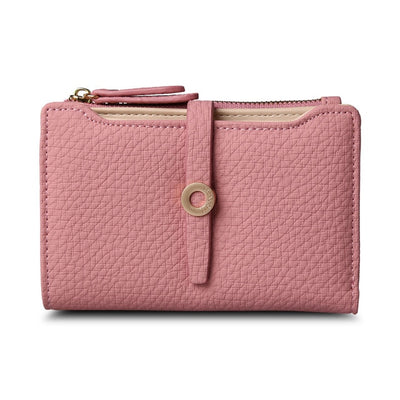 Women's Top Quality Leather Small Wallets Peach - Women Wallets | MegaMallExpress.com