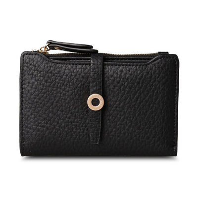 Women's Top Quality Leather Small Wallets Black - Women Wallets | MegaMallExpress.com