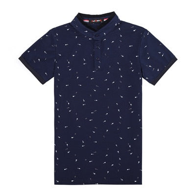 Printed Polo T-Shirt navy / XXXL - Men Tops & Tees | MegaMallExpress.com