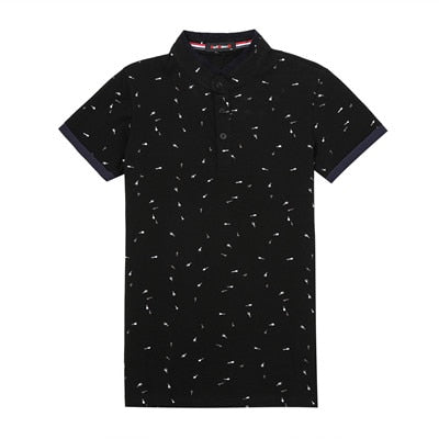 Printed Polo T-Shirt Black / XXXL - Men Tops & Tees | MegaMallExpress.com