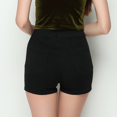 Tight Fitting High Waist Jean Shorts  - Women Bottoms | MegaMallExpress.com
