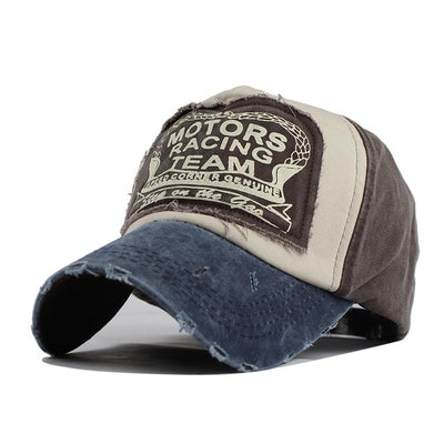 Vintage Motor Racing Team Hat MO Gray / Adjustable - Men Hats & Caps | MegaMallExpress.com