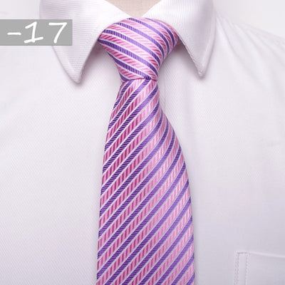 Men Business Fashion Ties Pink 17 - Men Ties & Accessories | MegaMallExpress.com