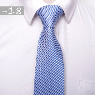 Men Business Fashion Ties Blue 18 - Men Ties & Accessories | MegaMallExpress.com