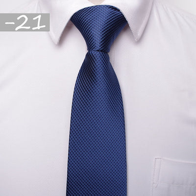 Men Business Fashion Ties Navy Blue 21 - Men Ties & Accessories | MegaMallExpress.com