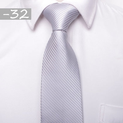 Men Business Fashion Ties White 32 - Men Ties & Accessories | MegaMallExpress.com
