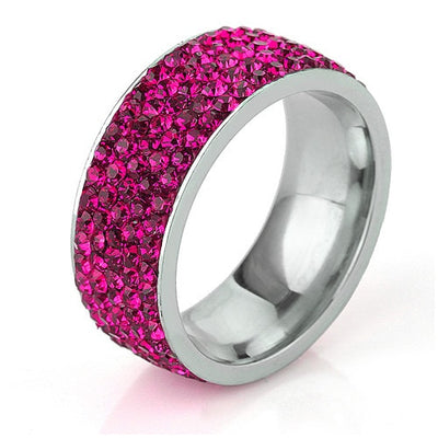 Crystal Jewelry Ring Pink / 12 - Wedding & Engagement | MegaMallExpress.com