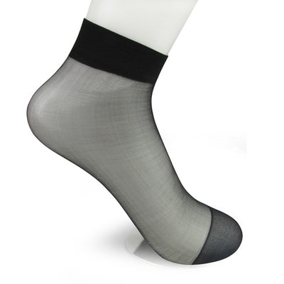 Women Transparent Silk Socks black / OSFA - Women Socks & More | MegaMallExpress.com
