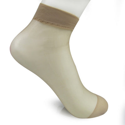 Women Transparent Silk Socks deep khaki / OSFA - Women Socks & More | MegaMallExpress.com