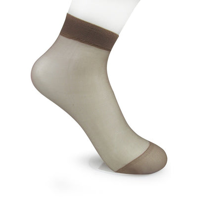 Women Transparent Silk Socks coffee / OSFA - Women Socks & More | MegaMallExpress.com