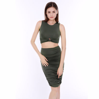 Women Bodycon Mini Dress Two Piece Dress  - Women Dresses | MegaMallExpress.com