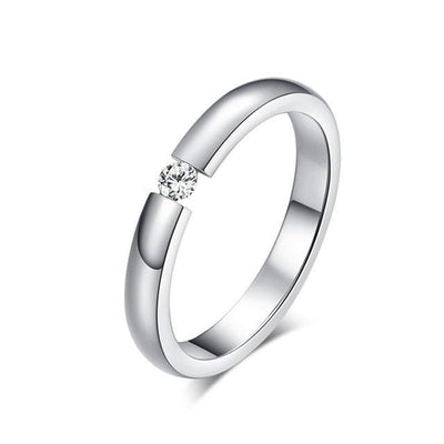 New Fashion Engagement Ring Silver / 9 - Wedding & Engagement | MegaMallExpress.com