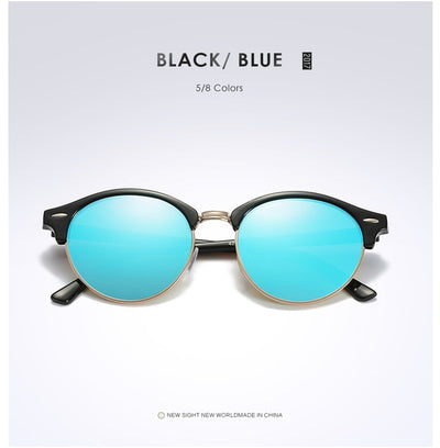 Unisex Polarized Round Sunglasses Blue - Men Sunglasses | MegaMallExpress.com