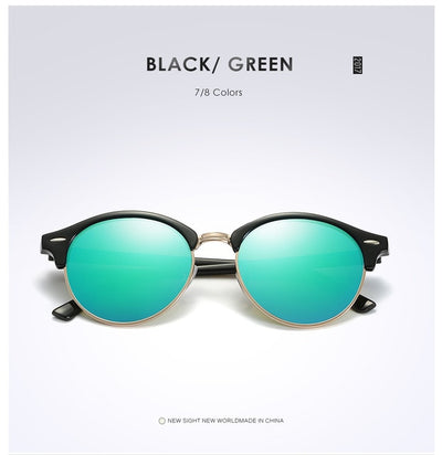 Unisex Polarized Round Sunglasses Green - Men Sunglasses | MegaMallExpress.com