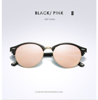 Unisex Polarized Round Sunglasses Pink - Men Sunglasses | MegaMallExpress.com