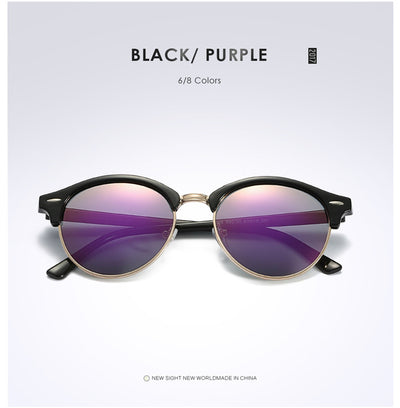 Unisex Polarized Round Sunglasses Purple - Men Sunglasses | MegaMallExpress.com