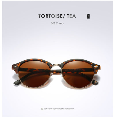 Unisex Polarized Round Sunglasses Tortoise Brown - Men Sunglasses | MegaMallExpress.com