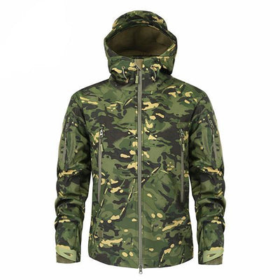 Men's Military Camouflage Jacket of Durable Polyester Army Green / XXXL - Men Jackets & Coats | MegaMallExpress.com
