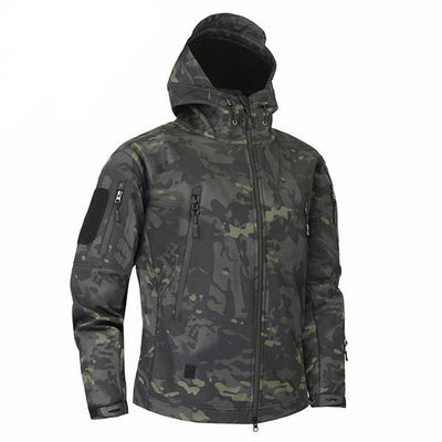Men's Military Camouflage Jacket of Durable Polyester Hunter Green / XXXL - Men Jackets & Coats | MegaMallExpress.com