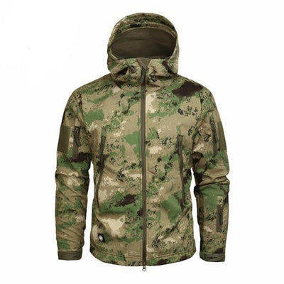 Men's Military Camouflage Jacket of Durable Polyester Forest Green / XXXL - Men Jackets & Coats | MegaMallExpress.com