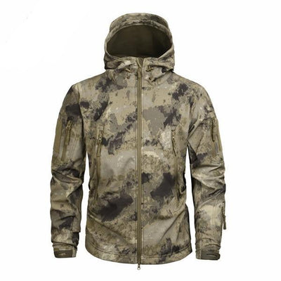 Men's Military Camouflage Jacket of Durable Polyester Sandy Brown / XXXL - Men Jackets & Coats | MegaMallExpress.com