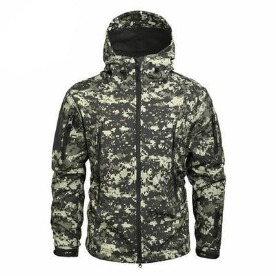 Men's Military Camouflage Jacket of Durable Polyester Green/Cream / XXXL - Men Jackets & Coats | MegaMallExpress.com
