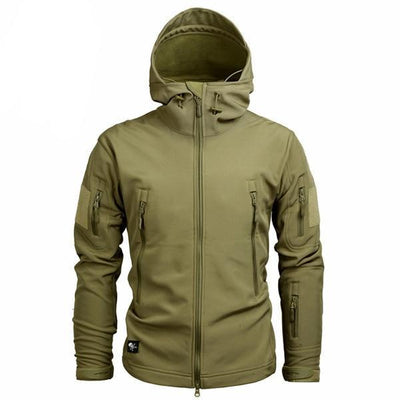 Men's Military Camouflage Jacket of Durable Polyester Khaki / XXXL - Men Jackets & Coats | MegaMallExpress.com