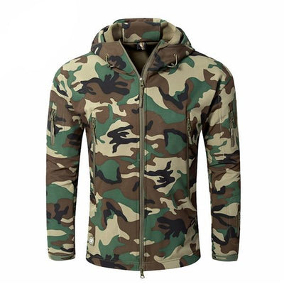 Men's Military Camouflage Jacket of Durable Polyester Green Dream / XXXL - Men Jackets & Coats | MegaMallExpress.com