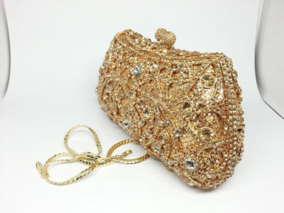 Women's Sparkling Silver Crystal Clutches  - Women Handbags & Purses | MegaMallExpress.com
