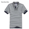 Polo T-Shirts grey Navy blue / XXXL - Men Tops & Tees | MegaMallExpress.com