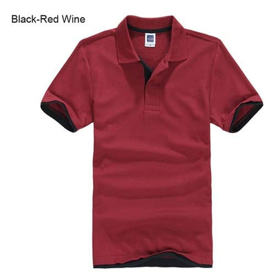 Polo T-Shirts black red wine / XXXL - Men Tops & Tees | MegaMallExpress.com
