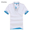 Polo T-Shirts white Blue / XXXL - Men Tops & Tees | MegaMallExpress.com