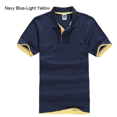 Polo T-Shirts navyblue lightyellow / XXXL - Men Tops & Tees | MegaMallExpress.com