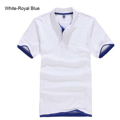 Polo T-Shirts white Royal blue / XXXL - Men Tops & Tees | MegaMallExpress.com